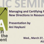AUA ACE Public Lecture: Forest Management and Resource Stewardship
