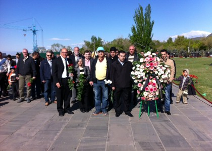 AUA Visits Armenian Genocide Memorial on April 24