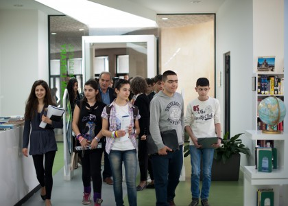 Mkhitar Sebastatsi School Visits AUA
