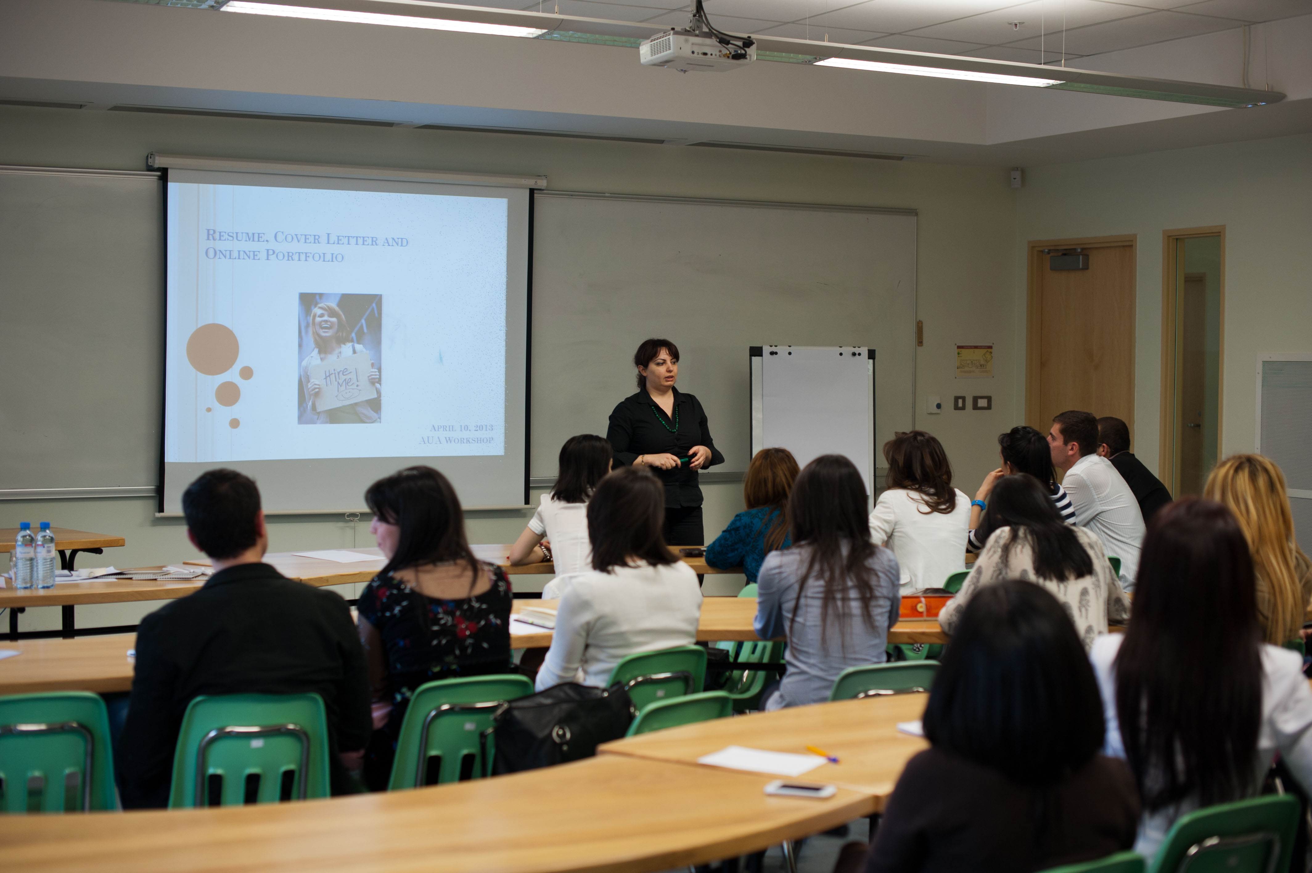 aua alumni career development office hosts job market workshops the first session titled the first impression resumes cover letters and online portfolios featured