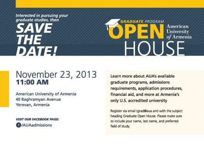 Graduate Program Open House, November 23 at 11:00 AM