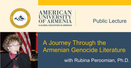 Public Lecture: A Journey Through the Armenian Genocide Literature