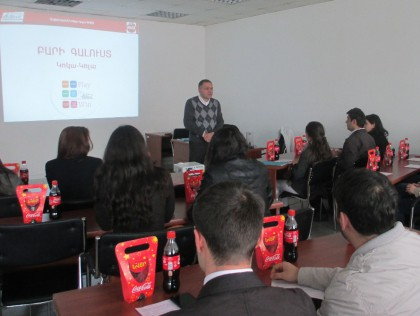 AUA Students Get Sneak Peek into Working at Coca-Cola Armenia