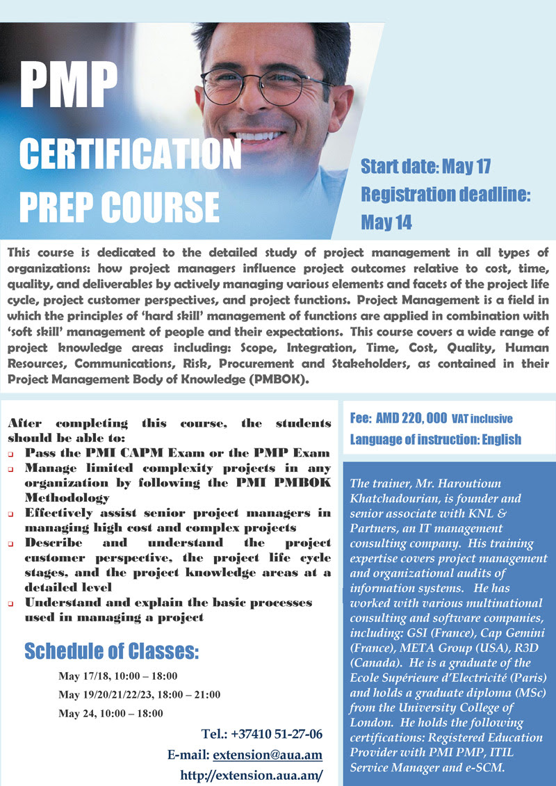Upcoming events pmp certification prep course aua newsroom ext xflitez Image collections