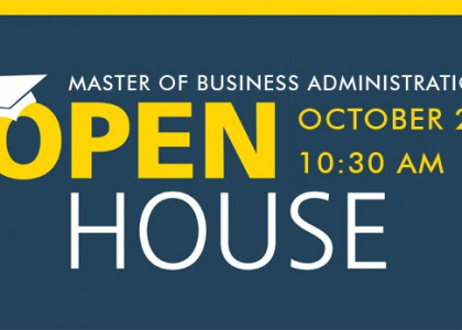 Open House for Master of Business Administration Prospective Students