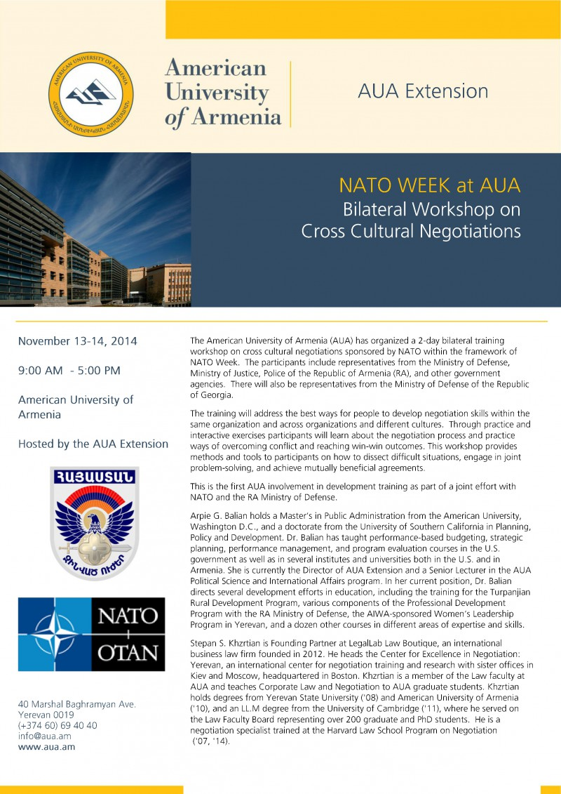 NATO week at AUA