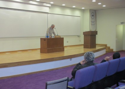Krikor Beledian Discusses Art, Poetry, and Mourning at AUA