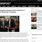 MassisPost: Vartan Gregorian Donates Book Collection to American University in Armenia