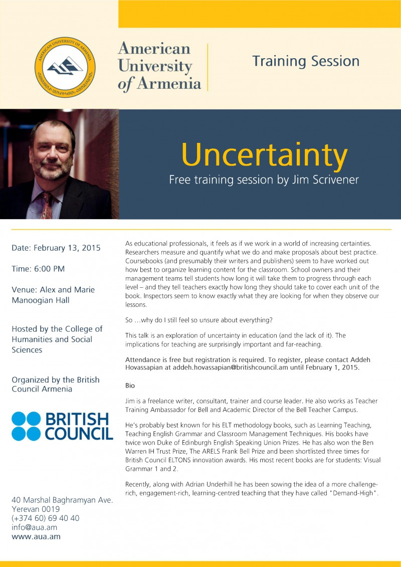 Uncertainty in Education Jim