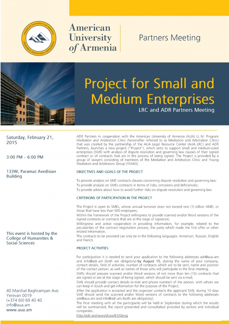 Project for Small and Medium Enterprises