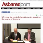 Asbarez: UC Irvine Agrees Collaboration with American University of Armenia