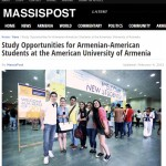 Massispost: Study Opportunities for Armenian-American Students at the American University of Armenia