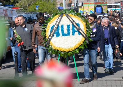 AUA Community Pays Tribute on Armenian Genocide Commemoration Day