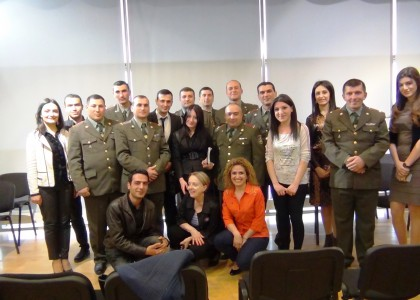 PSIA Students Debate Characteristics of Armenian National Identity with Officers from Vazgen Sargsyan Military Institute