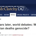 McClatchyDC: 100 years later, world debates: Were Armenian deaths genocide?