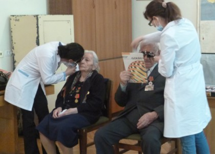 Meghrigian Institute Conducts Eye Screenings for World War II Veterans