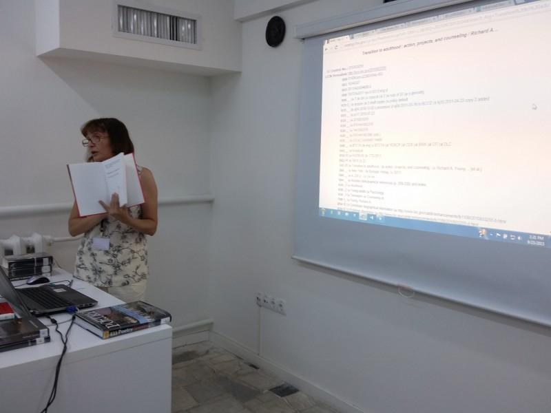 Anahit Vardanyan explaining MARC records