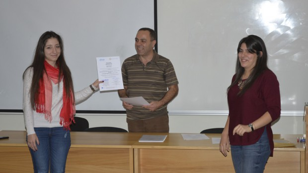 AUA Students Receive Certificates For Taking Part in An EU Tempus-Ico-op Training Program