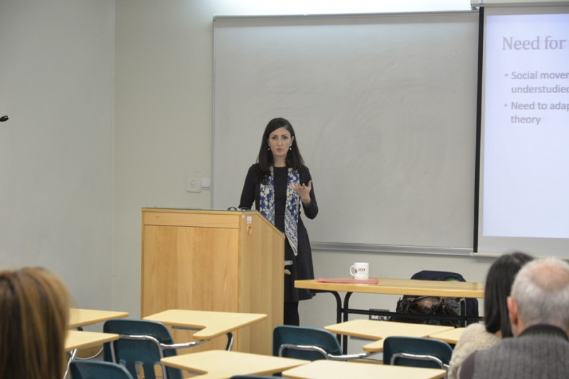 Karena Avedissian led a seminar at AUA that explored two social movements in Russia