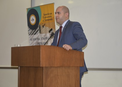 Integration through Education: Armen Ashotyan Delivers Lecture at AUA