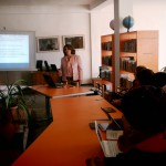 AUA Librarian Gives Talk on Copyright Law at Mkhitar Sebastatsi Educational Complex