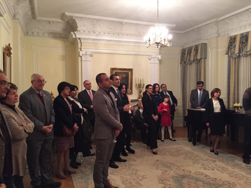 Community event at the Armenian Embassy hosted by His Excellency Mr. Grigor Hovhannissian, Armenian Ambassador to the United States.