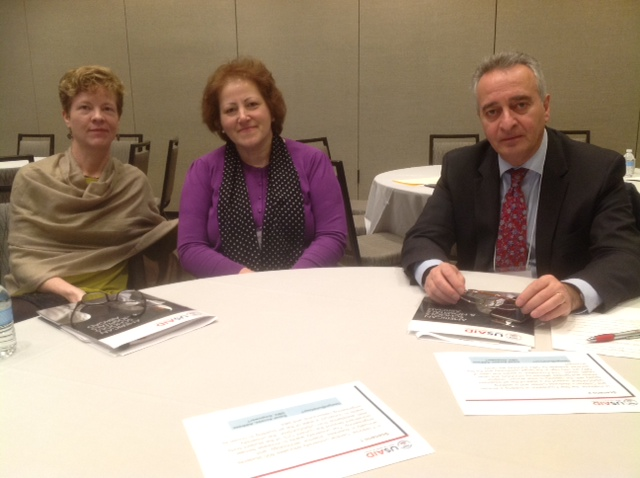 From left to right ASHA Director Kate Crawford, AUA Assistant Vice President of Operations Anahit Ordyan, AUA Vice President of Operations Ashot Ghazaryan