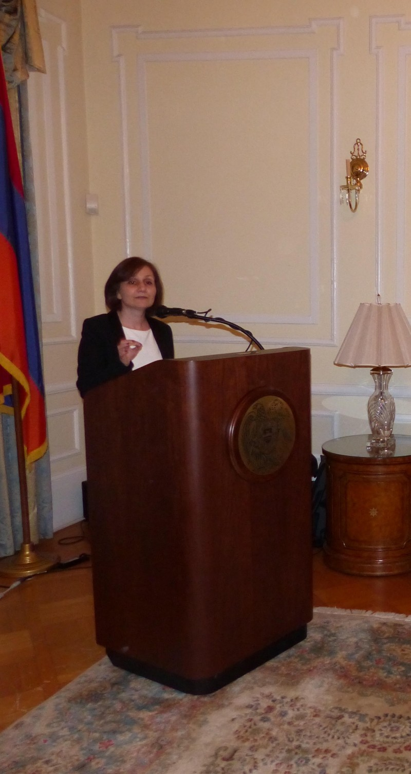 Welcoming remarks by Lilit Shakaryan,  Consul of the Armenian Embassy and AUA alumni