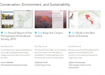Story Map of the Birds in the Red Book of Armenia 3rd Place Winner on Esri