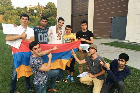 Armenian University Students Celebrate at the International Mathematics Competition for Students in Blagoevgrad, Bulgaria.