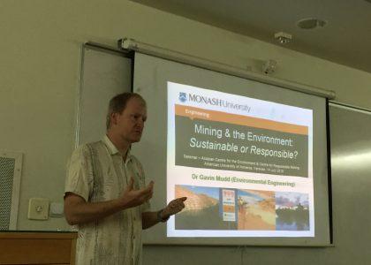 Mining and the Environment Talk by Gavin Mudd of Monash University