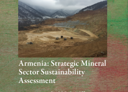 AUA Centers Preparation of World Bank's Armenia Strategic Mineral Sector Sustainability Assessment Released