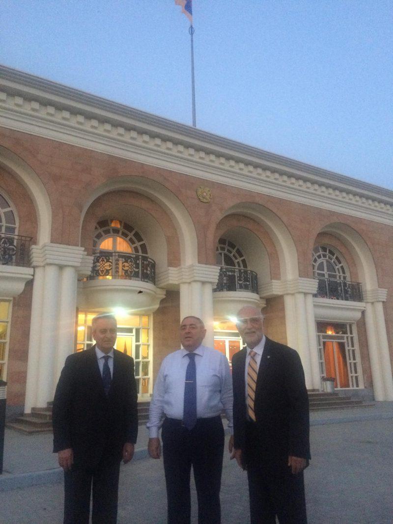 VP Ashot Ghazaryan, H.E. Mr. Gegham Gharibjanyan, and AUA President Armen Der Kiureghian (1)