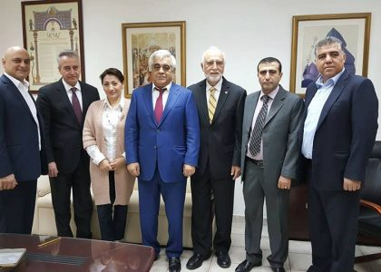 AUA President and Vice President Visit Armenian Community in Kuwait