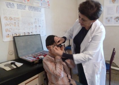 Meghrigian Institute for Preventive Ophthalmology Works with Schoolchildren in Artsakh