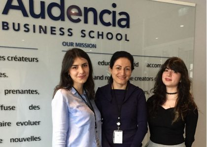 AUA and Audencia Business School Collaborate in Erasmus+ International Credit Mobility Project