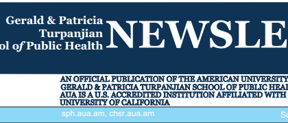 Gerald & Patricia Turpanjian School of Public Health (SPH) Newsletter, Issue 18, 2016