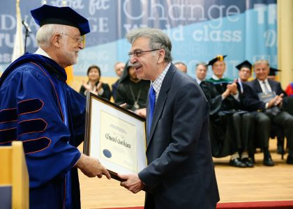 Philanthropist Edward Avedisian Receives Inaugural AUA Presidential Commendation