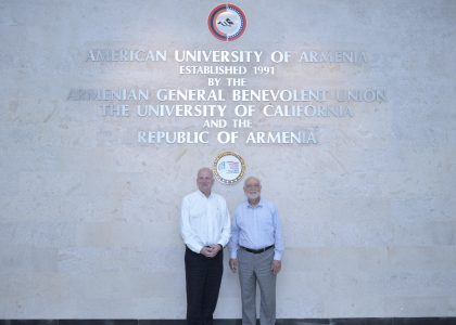 Headmaster of Westminster School Patrick Derham Visits AUA