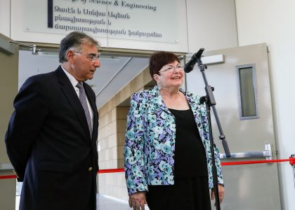 Ribbon-Cutting of Zaven and Sonia Akian College of Science and Engineering