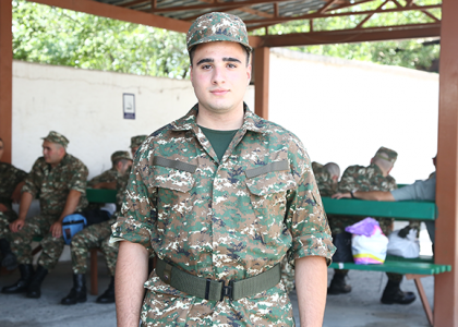 AUA Student Excited to Join Armenian Army