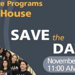Graduate Programs Open Houses: November 18, 2017, 11:00 AM & March 17, 2018, 11:00 AM