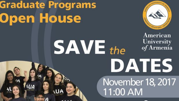 Graduate Programs Open Houses: November 18, 2017, 11:00 AM & March 17, 2018, 11:00 AM