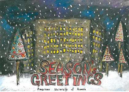 First Annual Student Holiday Card Design Contest Ends in Success for Two AUA Sophomores