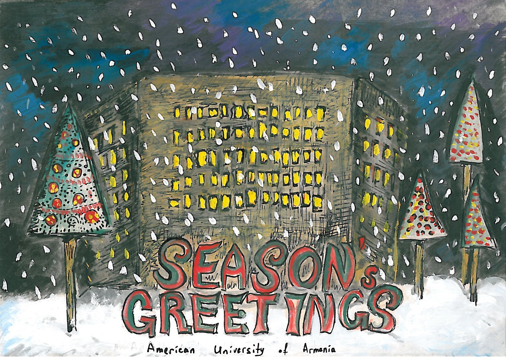 First Annual Student Holiday Card Design Contest Ends In Success For