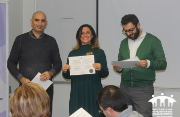 AUA Certificates of Completion Awarded to Representatives from 15 CSOs around Armenia