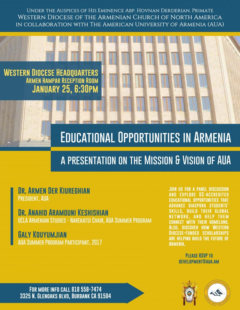 Educational Opportunities in Armenia: A Presentation on the