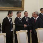 Armenia President Meets with Organizers of Award for Global Contribution in IT Field