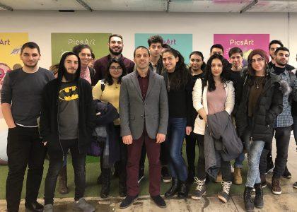 Students of Cybersecurity Essentials Visit PicsArt