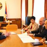 AUA VP Ashot Ghazaryan Visits Artsakh, Meets President Bako Sahakyan
